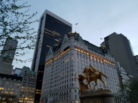 The Plaza Hotel across from Central Park (quieter option)